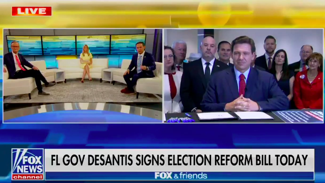 DeSantis Signs Away Voting Rights for Millions Live on 'Fox & Friends'