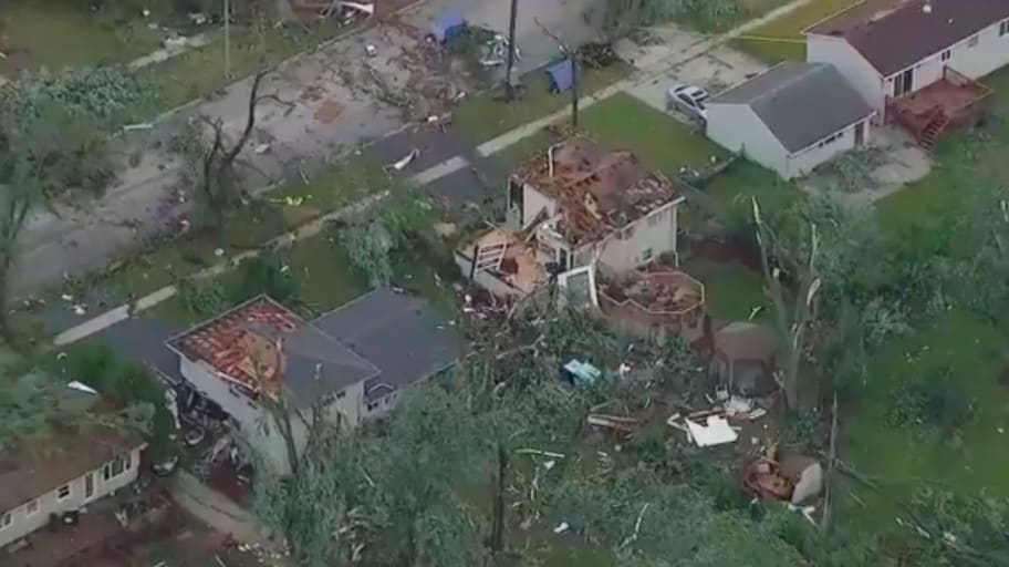 WATCH: Naperville Tornado Leaves Trail of Destruction in Chicago Suburbs