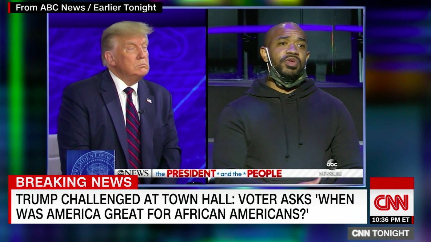 Black Voter Asks Trump to His Face: Can You See How Tone-Deaf 'MAGA' Slogan Is?