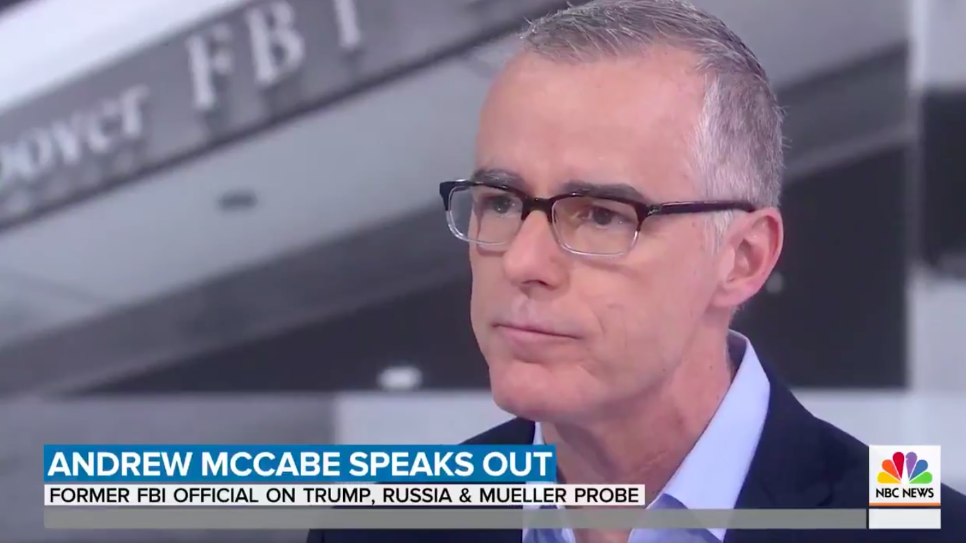 Andrew McCabe: We Told Mitch McConnell and Paul Ryan About the FBI Counterintelligence Investigation into Trump