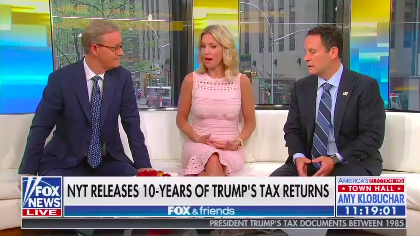 Fox & Friends' Showers Trump With Praise for Losing $1 Billion