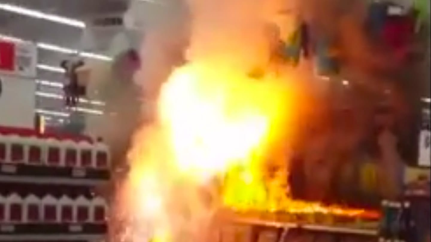 Idiots Light Entire Fireworks Display On Fire Inside