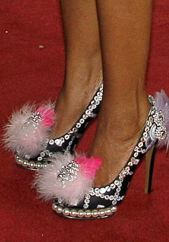 Queen of Swaziland's shoes, photo KIRSTY WIGGLESWORTH/AFP/GettyImages