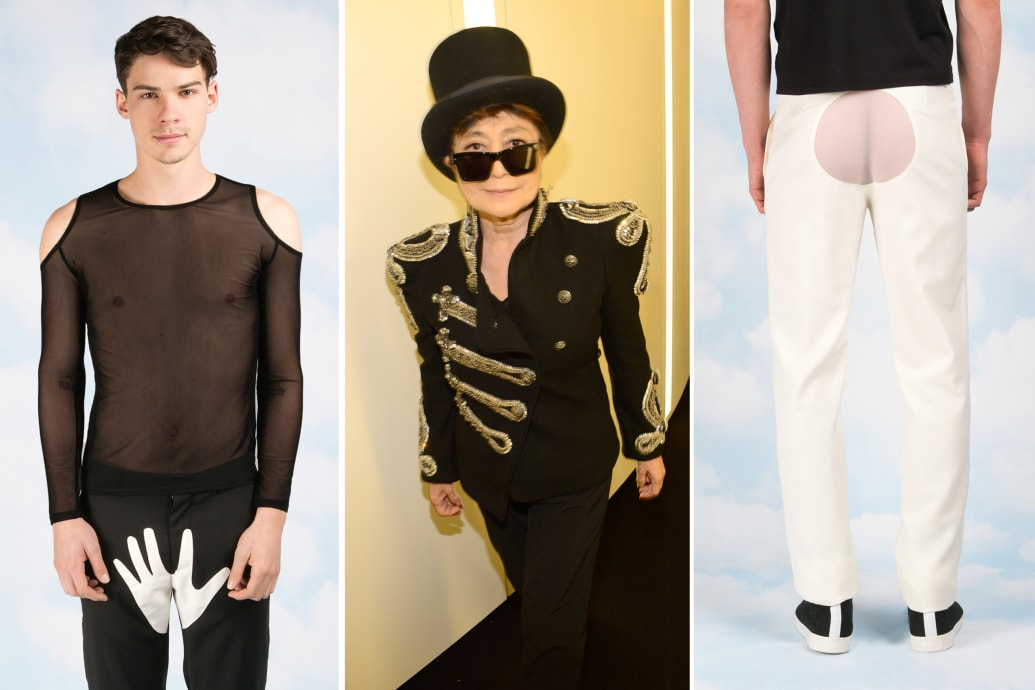 Yoko Ono S Fashion Debut