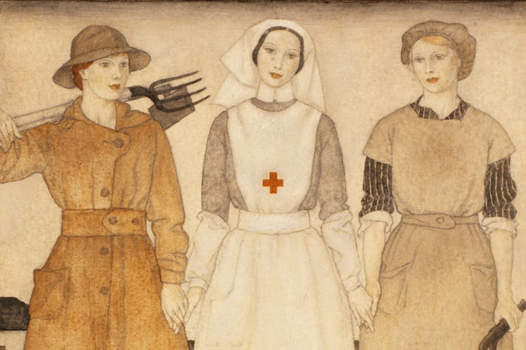 c7db5ceb35 The fashion industry is no exception. Several exhibitions from Britain to  New Zealand are spotlighting how the war impacted women s clothing