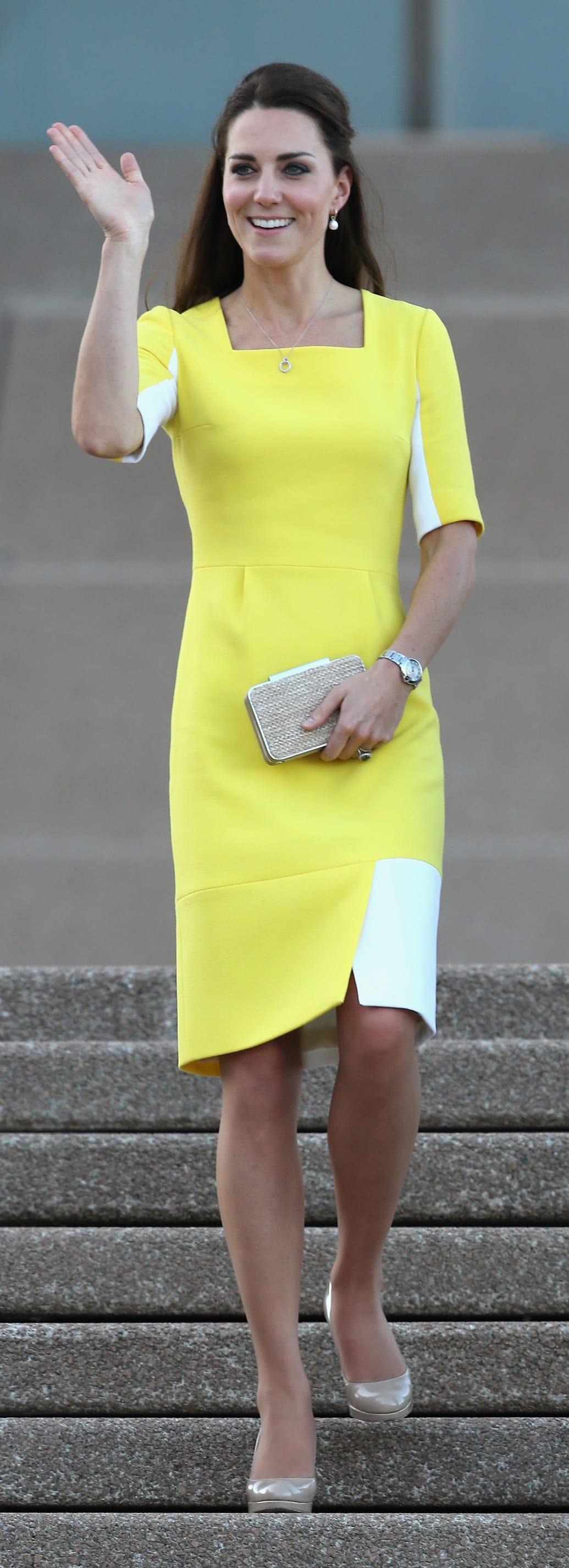 Kate middleton yellow bikini