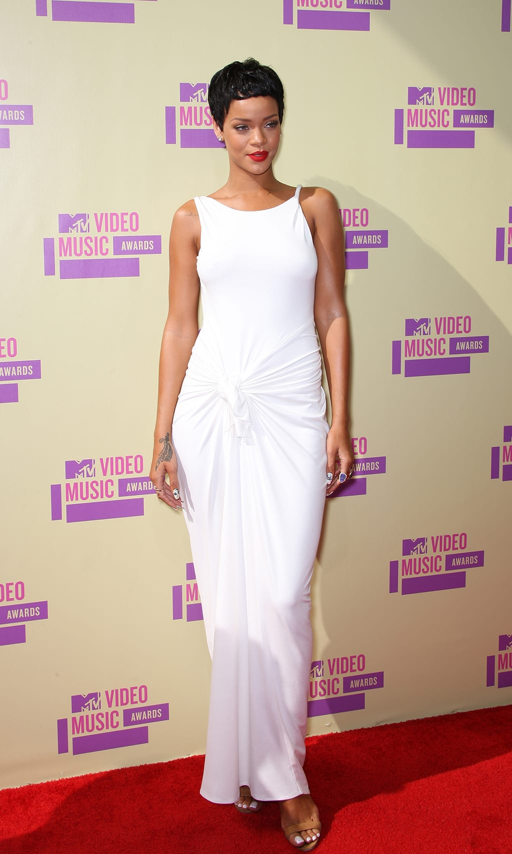 2e359c52dc Rihanna arrived at the 2012 MTV Video Music Awards on Sept. 6