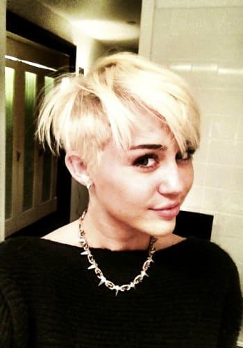 Mileys Punk New Haircut