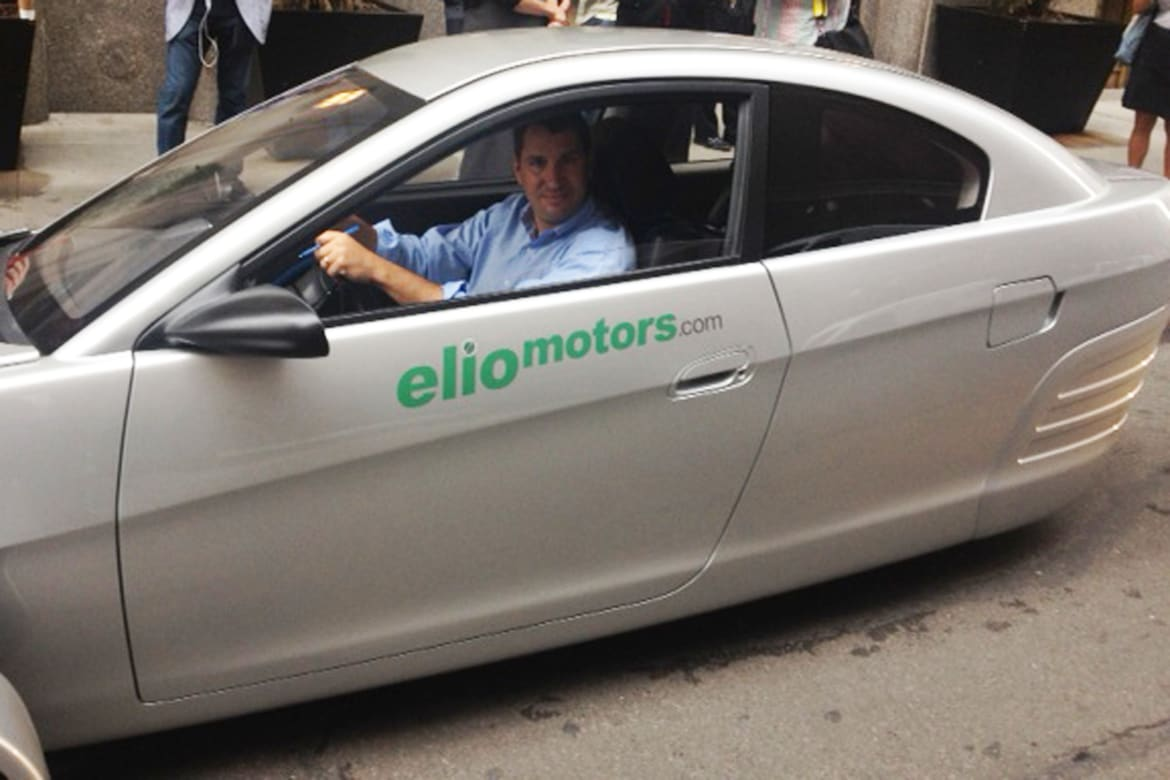Start-Up Automaker Elio Builds Small, Cheap, Two-Seater Car