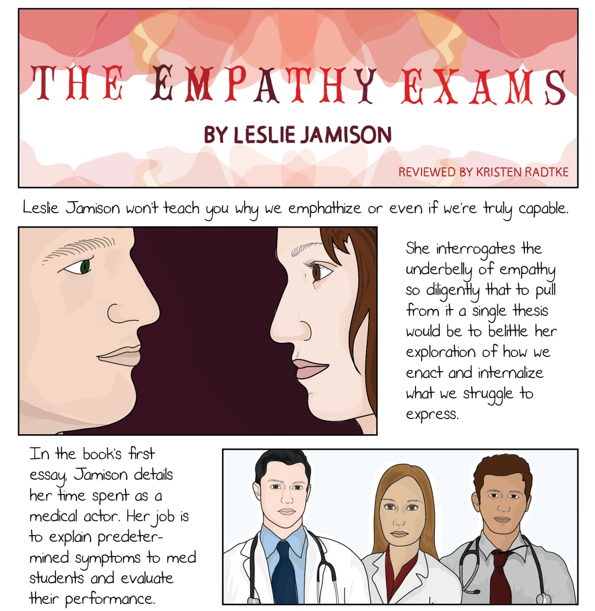 graphic novelist kristen radtke reviews leslie jamison s essays kristen radtke is a writer and illustrator she is the marketing and publicity director for sarabande books and is at work on a graphic memoir about modern