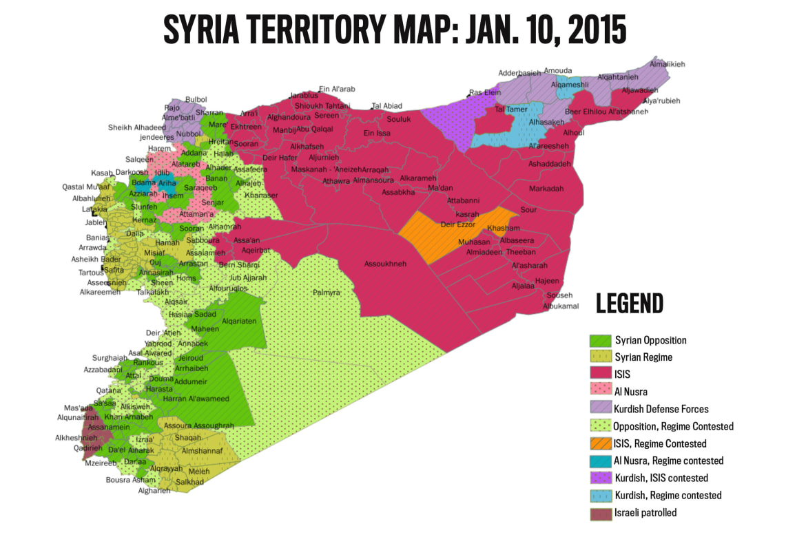 Exclusive ISIS Gaining Ground In Syria Despite US Strikes - Map of territories acquired by the us