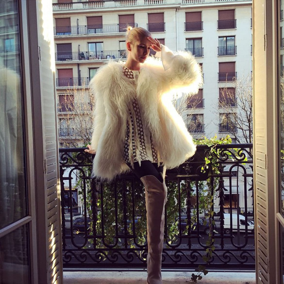 Model Elena Perminova told how she got in shape after giving birth