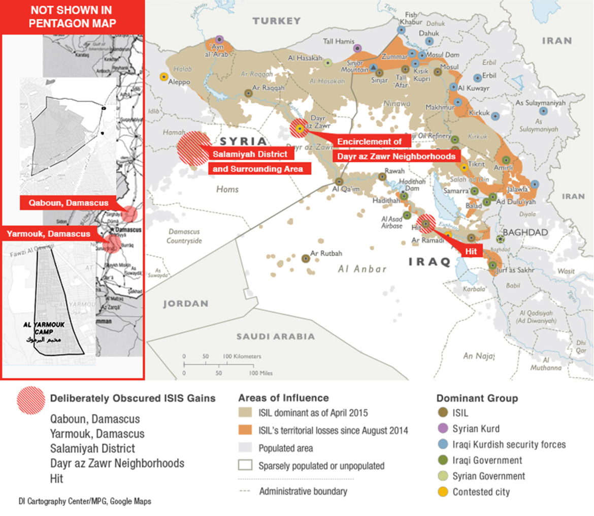 Exclusive Pentagon Map Hides ISIS Gains - Us map isolation