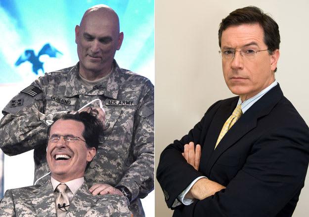 Steven Colbert Shaved Head
