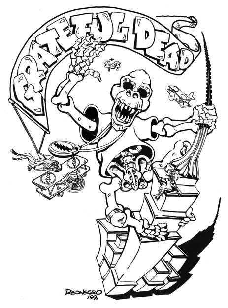 ithaca new york courtesy of special collections archives university of california santa cruz grateful dead archive - Grateful Dead Coloring Book