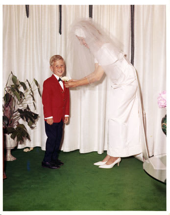 1964 At 5 Years Old, Michael Re Designs His Motheru0027s Wedding Dress