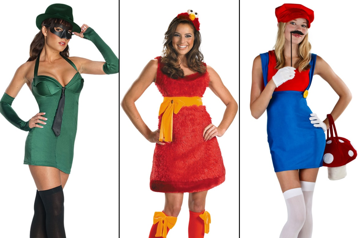barely there halloween costumes are certainly nothing novel but has the line finally been crossed from spongebob squarepants to super mario - Skimpy Halloween Outfits
