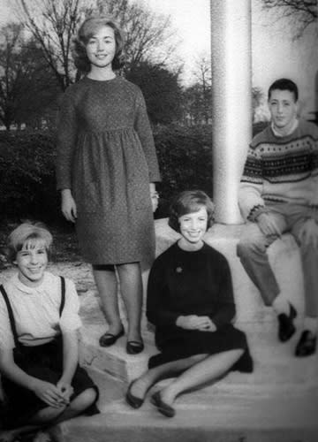 In 1964 A Young Hillary Rodham Poses With Clmates At Park Ridge East High School Demure Shift Her Chestnut Curls Neatly Coiffed