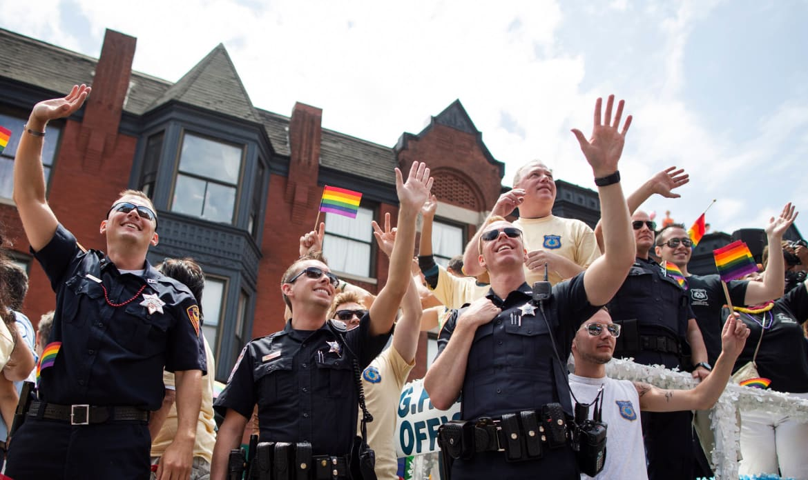 Lesbian and gay police association